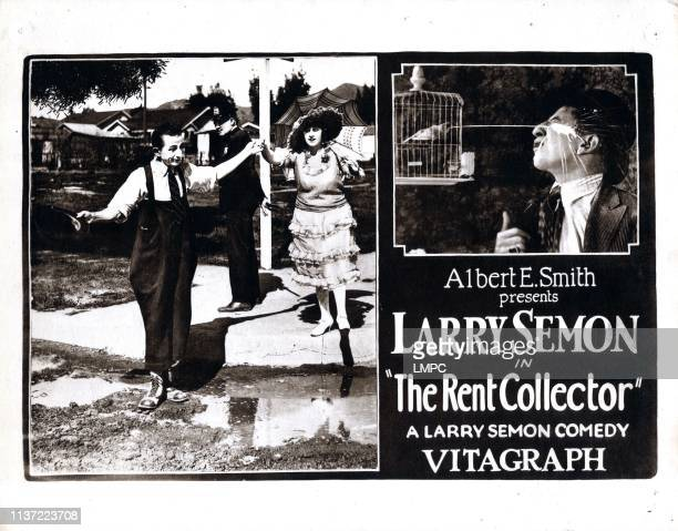 The Rent Collector poster US poster from left Larry Semon Norma Nichols Larry Semon 1921
