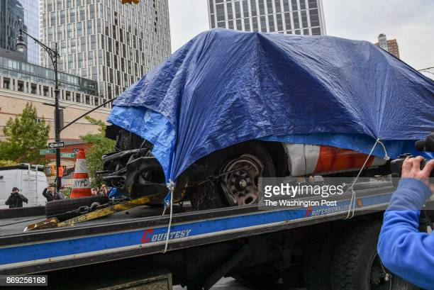 The rental truck used by Sayfullo Saipov an Uzbek immigrant who drove down a bike path for twenty blocks killing eight people and injuring several...