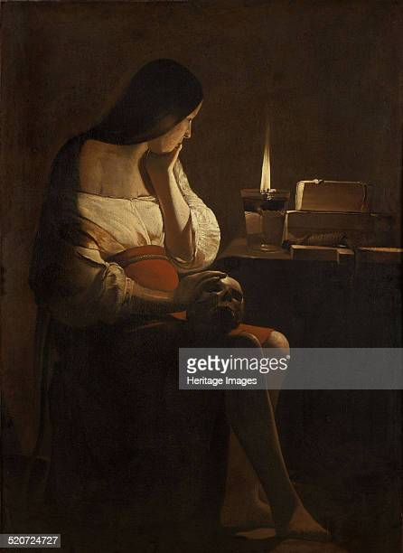 The Repentant Mary Magdalene Found in the collection of Louvre Paris