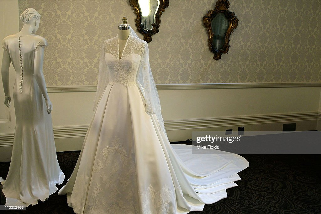The Replica Wedding Dress Worn By Catherine Ss Of Cambridge Displayed At Queen Victoria
