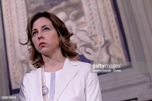 The Representative of 5 Star Movement Giulia Grillo speaks to the media after leaving the President Sergio Mattarella study during the third day of...