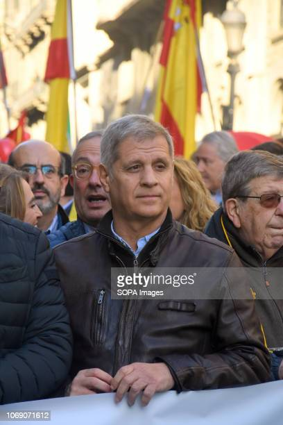 The representative of the Popular Party of Catalonia by the City Council of Barcelona Alberto Fernandez seen during the event Two thousand people...