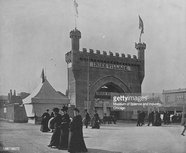The reproduction of Blarney Castle at the World's Columbian Exposition in Chicago Illinois 1893 This image was published in 'The Dream CityWorld's...