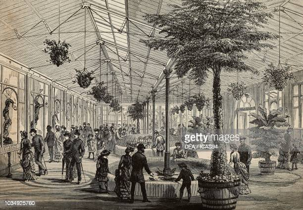 The reptile house at the Zoological Society's Gardens London United Kingdom engraving by F Watkins from The Illustrated London News No 2316 September...