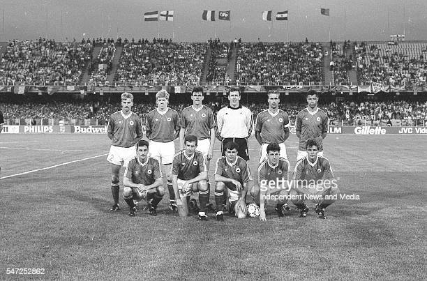 The Republic of Ireland football team who played the England in the World Cup Italia '90 The match took place in Stadio Sant'Elia in Cagliari The...
