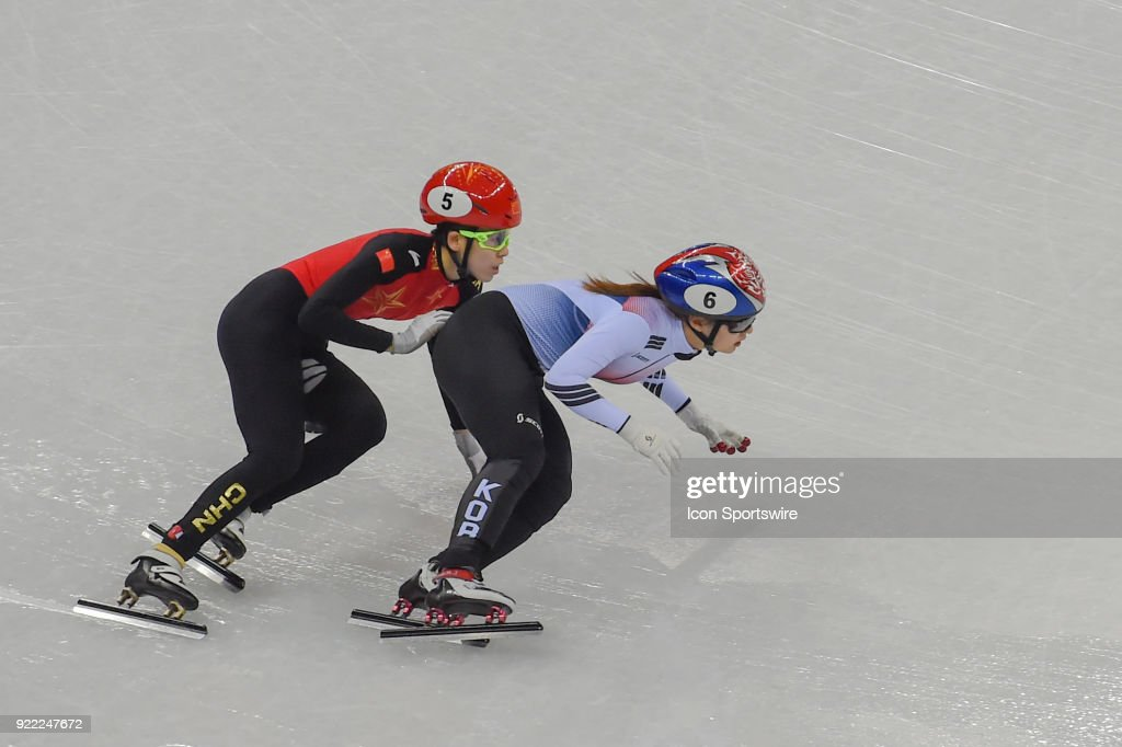 The Republic of Korea wins the gold medal in the Ladies' 3,000M Relay Final A race with Italy earning the silver, and the Netherlands bronze, after Canada and China were each penalized during the 2018 Winter Olympic Games at the Gangneung Ice Arena on February 20, 2018 in PyeongChang, South Korea.