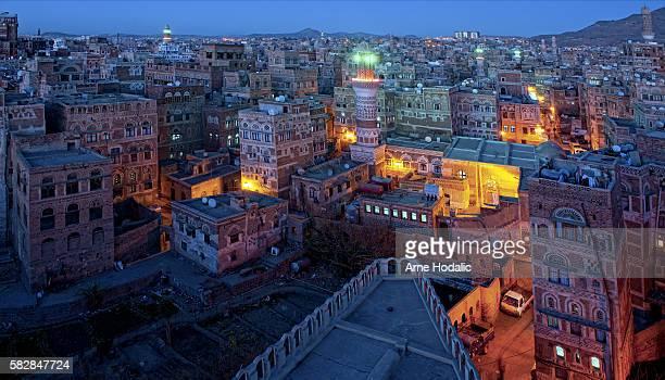 the republic of yemen - sanaa photos et images de collection