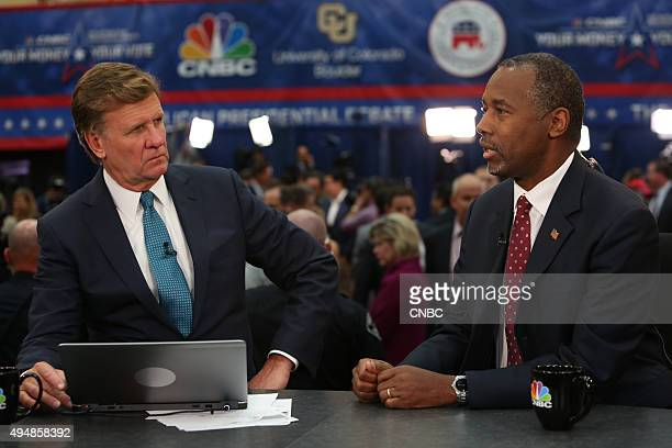 EVENTS The Republican Presidential Debate Your Money Your Vote Pictured CNBC's Joe Kernen interviews Ben Carson after CNBC's Your Money Your Vote The...