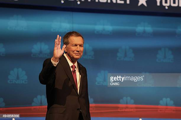 EVENTS The Republican Presidential Debate Your Money Your Vote Pictured John Kasich participates in CNBC's Your Money Your Vote The Republican...