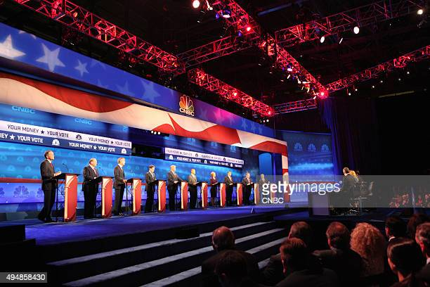 EVENTS The Republican Presidential Debate Your Money Your Vote Pictured John Kasich Mike Huckabee Jeb Bush Marco Rubio Donald Trump Ben Carson Carly...