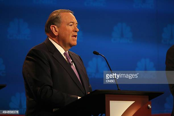 EVENTS The Republican Presidential Debate Your Money Your Vote Pictured Mike Huckabee participates in CNBC's Your Money Your Vote The Republican...