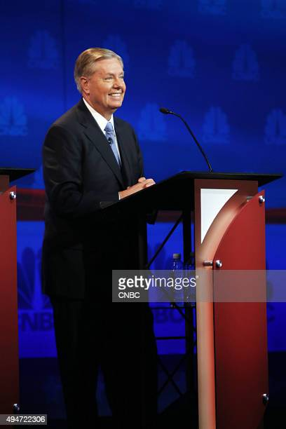 EVENTS The Republican Presidential Debate Your Money Your Vote Pictured Lindsey Graham participates in CNBC's Your Money Your Vote The Republican...
