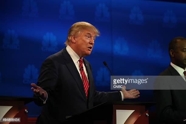 EVENTS The Republican Presidential Debate Your Money Your Vote Pictured Donald Trump participates in CNBC's Your Money Your Vote The Republican...