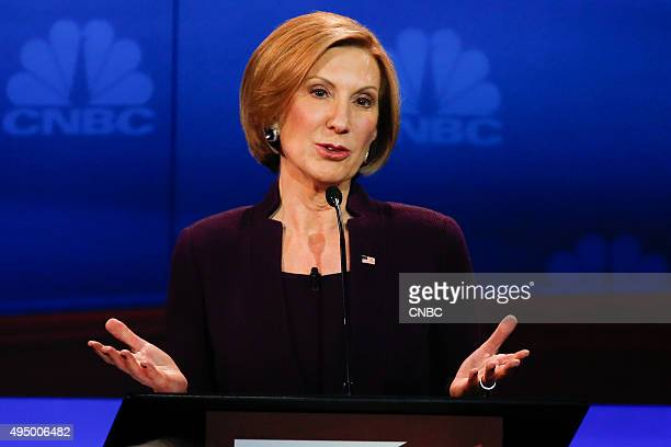 EVENTS The Republican Presidential Debate Your Money Your Vote Pictured Carly Fiorina participates in CNBC's Your Money Your Vote The Republican...