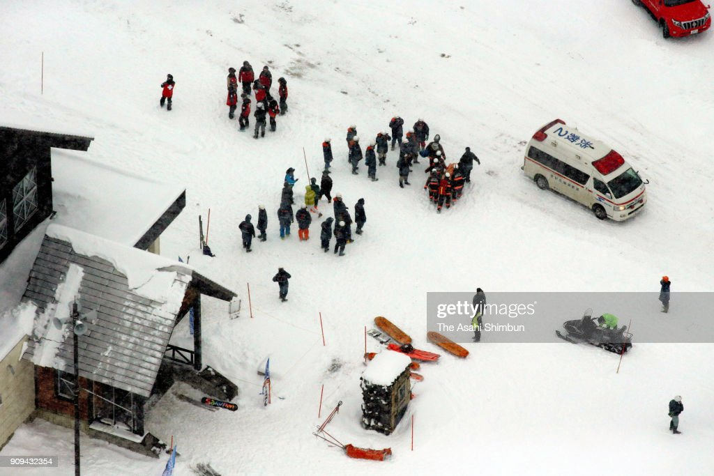 Avalanche Engulfs Skiers After Volcano Erupts In Japan