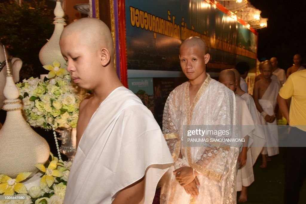 THAILAND-CAVE-ACCIDENT-RELIGION-BUDDHISM : News Photo