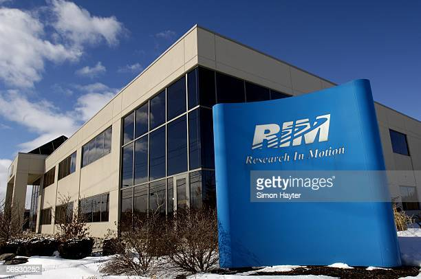 The Research In Motion headquarters is shown on February 24 in Waterloo Canada The court hearing against Blackberry over the technology used in the...