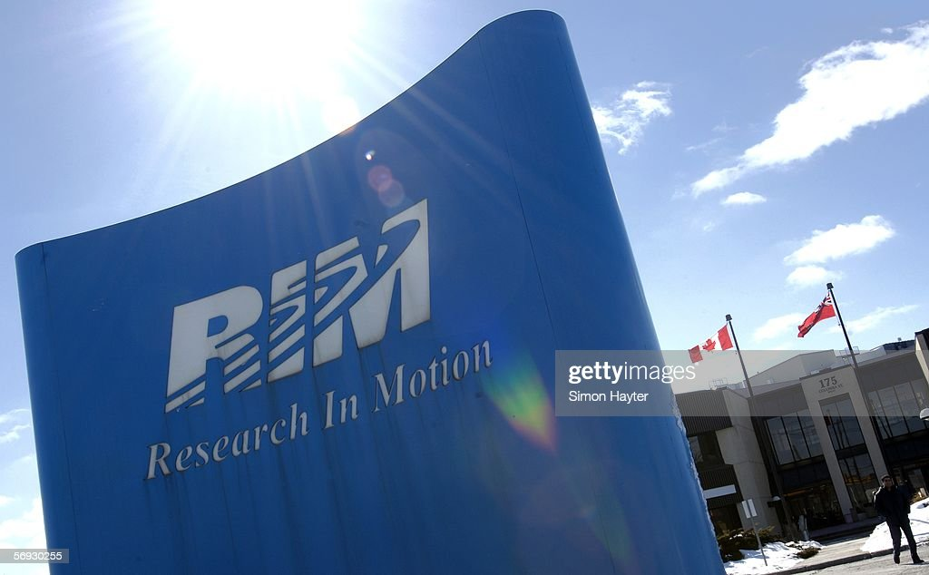 The Research In Motion (RIM) headquarters is shown on February 24, 2005, in Waterloo, Canada. The court hearing against Blackberry, over the technology used in the device's email service, ended today with the judge making no decision.