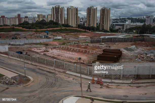 The Reserva Paulista residential complex stands under construction in Sao Paulo, Brazil, on Wednesday, March 21, 2018. The world's third-largest...