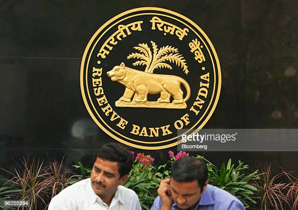 The Reserve Bank of India company logo sits outside the building in Mumbai India on Friday Jan 29 2010 India's central bank told lenders to set aside...