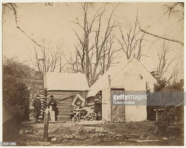 The residence of Chief Quartermaster of the Third Army Corps Brandy Station Virginia during the American Civil War December 1863 Photo from...