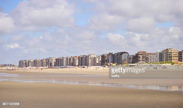 The residential buildings along the Belgium coast.