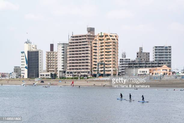 The residential buildings by the sea in Japan