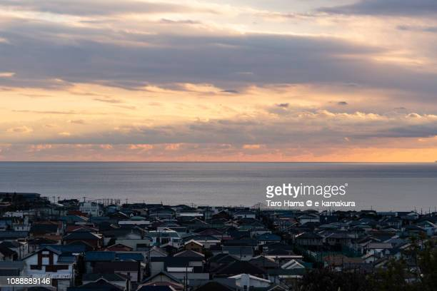 The residential town by the sea in Kamakura in Japan