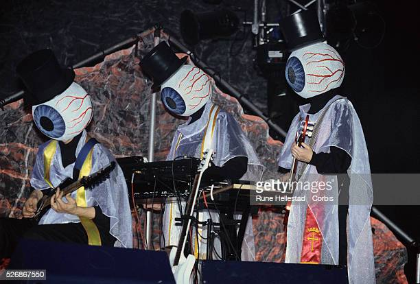 The Residents always perform in tuxedos and giant eyeball masks in order to preserve their anonymity