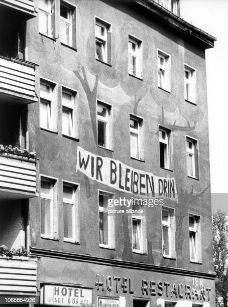 The residents of a squatted house in Berlin-Kreuzberg expressed their plan to stay permanently in the house by a painting on the facade. Picture from...