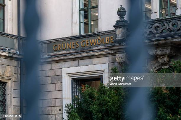 The Residenzschloss palace that houses the Gruenes Gewoelbe collection of treasures on November 25, 2019 in Dresden, Germany. Thieves, apparently...