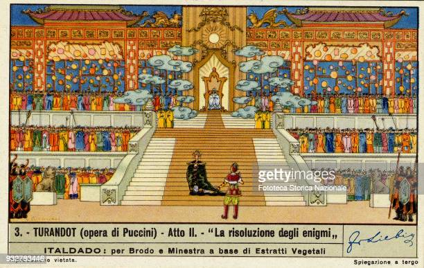 'The resolution of the puzzles' from the second act of the opera by Giacomo Puccini on libretto by Giuseppe Adami e Renato Simoni. The Puccini opera...