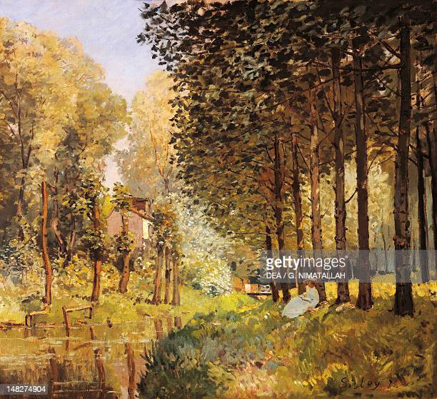 The Rest by the Stream Edge of the Wood by Alfred Sisley oil on panel 73x80 cm Paris Musée D'Orsay