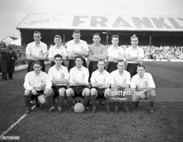 The Rest of the United Kingdom team ahead of the match which finished 32 to Wales Charlie Fleming Tommy Docherty George Young Tom Cowan Alf McMichael...
