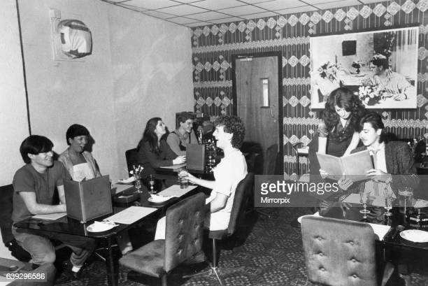The restaurant at Cagneys Night Club in Liverpool Circa February 1980