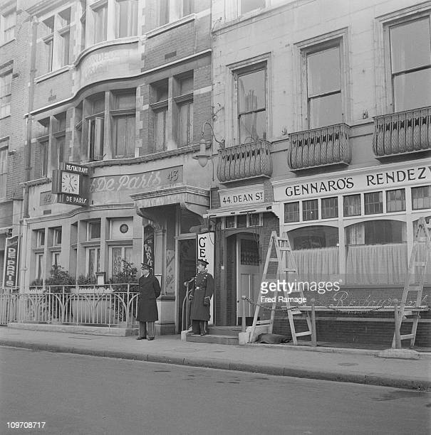 The Restaurant de Paris and Gennaro's Rendezvous on Dean Street in the Soho area of London 1947 Gennaro's would later become the site of The Groucho...