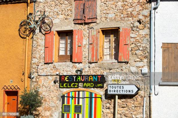 The Restaurant, Le Lezard, in Opoul Perillos; Languedoc; France.