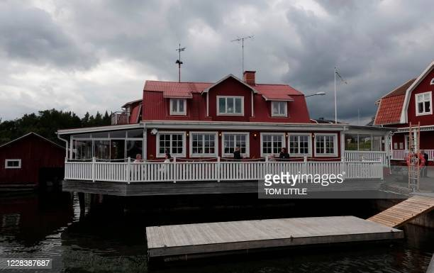The restaurant of chef Malin Soderstrom in the village of Skarsa north of Stockholm is pictured on September 4 when she invited friends to try a...
