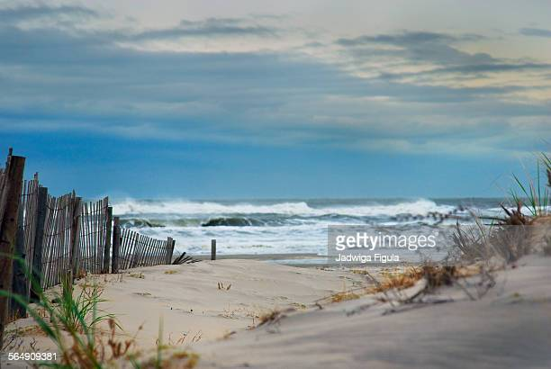 the restless ocean in maryland, united states - ocean city maryland stock pictures, royalty-free photos & images