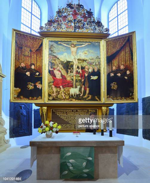 The restored Cranach Altar in the St Peter und Paul Church in Weimar Germany 28October 2014 The UNESCO listed St Peter und Paul Church has been...