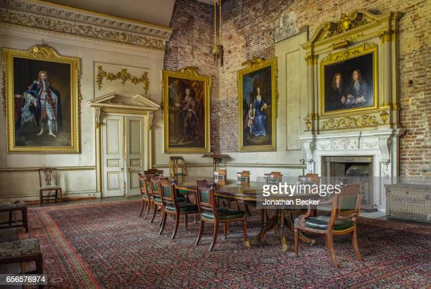 The restored Great Dining Room with ancestral portraits at St Giles House is photographed on September 9 2015 in Dorset England