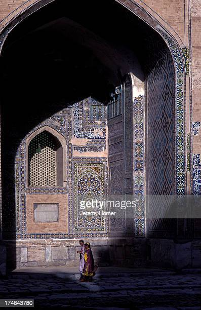 The restored medersa in Bukhara on the old Silk Road between Europe and China