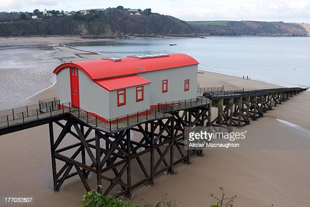 The restored old lifeboat house in Tenby. Built in 1905 it has undergone a complete transformation into a contemporary home and was featured on...
