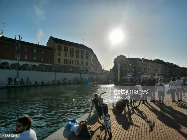 The restyled famous Darsena in Milan (Italy)