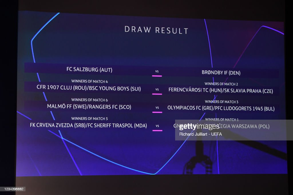 The result of the UEFA Champions League 2021/22 Play-offs ...