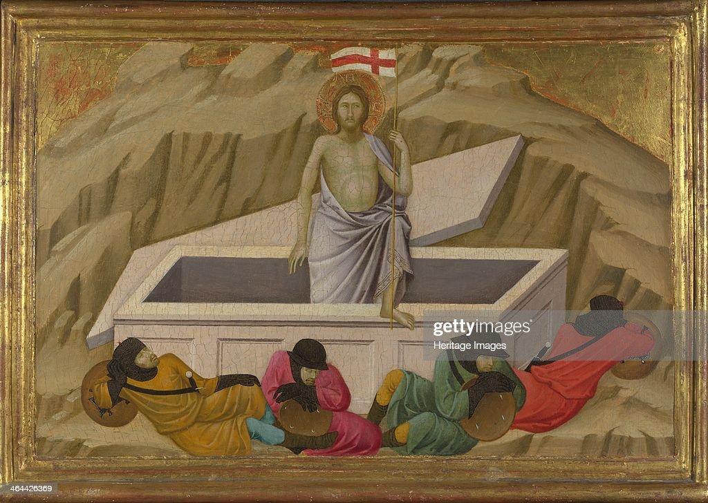 The Resurrection (From the Basilica of Santa Croce, Florence), c. 1324-1325. Artist: Ugolino di Nerio (ca 1280-1349) : News Photo
