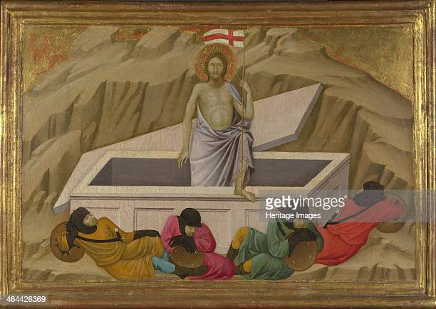 The Resurrection c 13241325 Found in the collection of the National Gallery London