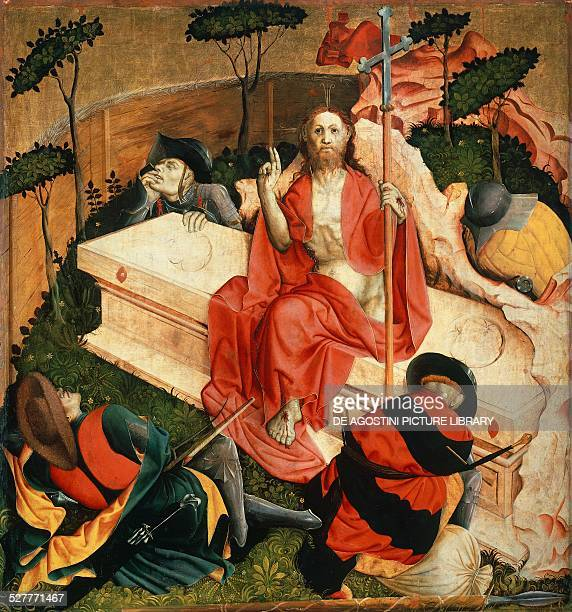 The Resurrection detail from Wurzach Altarpiece by Hans Multscher tempera on wood 148x140 cm Germany 15th century Berlino Dahlem Staatliche Museen Zu...