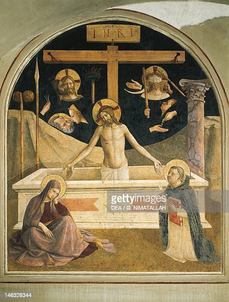 The resurrection of Christ 14381447 by Giovanni da Fiesole known as Fra Angelico fresco Cell of St Mark's Convent Florence
