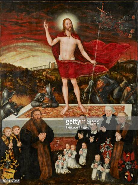 The Resurrection of Christ with Donors 1554 Found in the collection of Museum der Bildenden K¸nste Leipzig